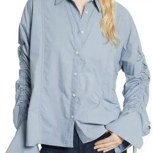 Free People Brown Eyed Girl Button Down Shirt